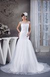 Off the Shoulder Bridal Gowns Full Figure Sleeveless Western Elegant