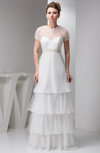 with Sleeves Bridal Gowns Modest Mormon A line Summer Formal Glamorous