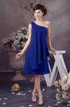 Chiffon Bridesmaid Dress One Shoulder Full Figure Informal Formal Modern