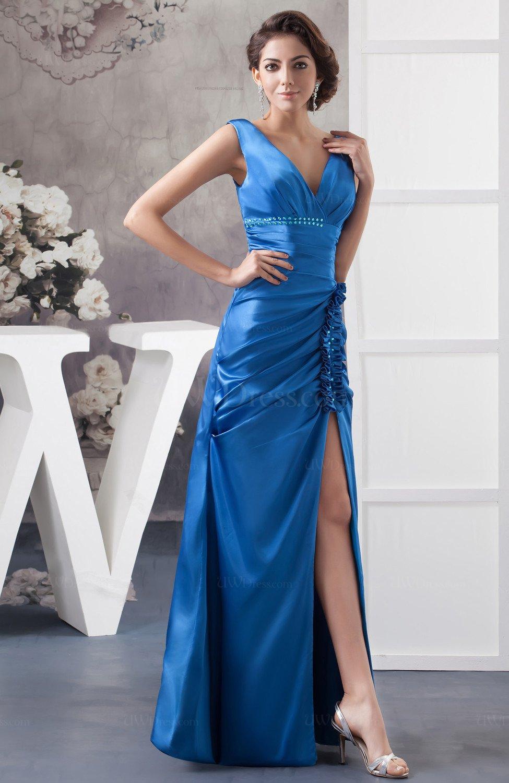 Royal Blue Formal Evening Dress Petite Trendy Full Figure
