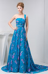 Affordable Prom Dress Long Formal Fall One Shoulder A line Pretty Country