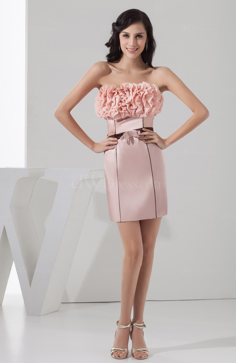 Pastel Pink Sexy Homecoming Dress Unique Trendy Backless