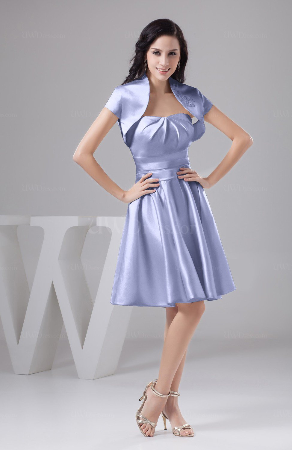 Lavender Inexpensive Bridesmaid Dress Affordable A line Plus Size ...