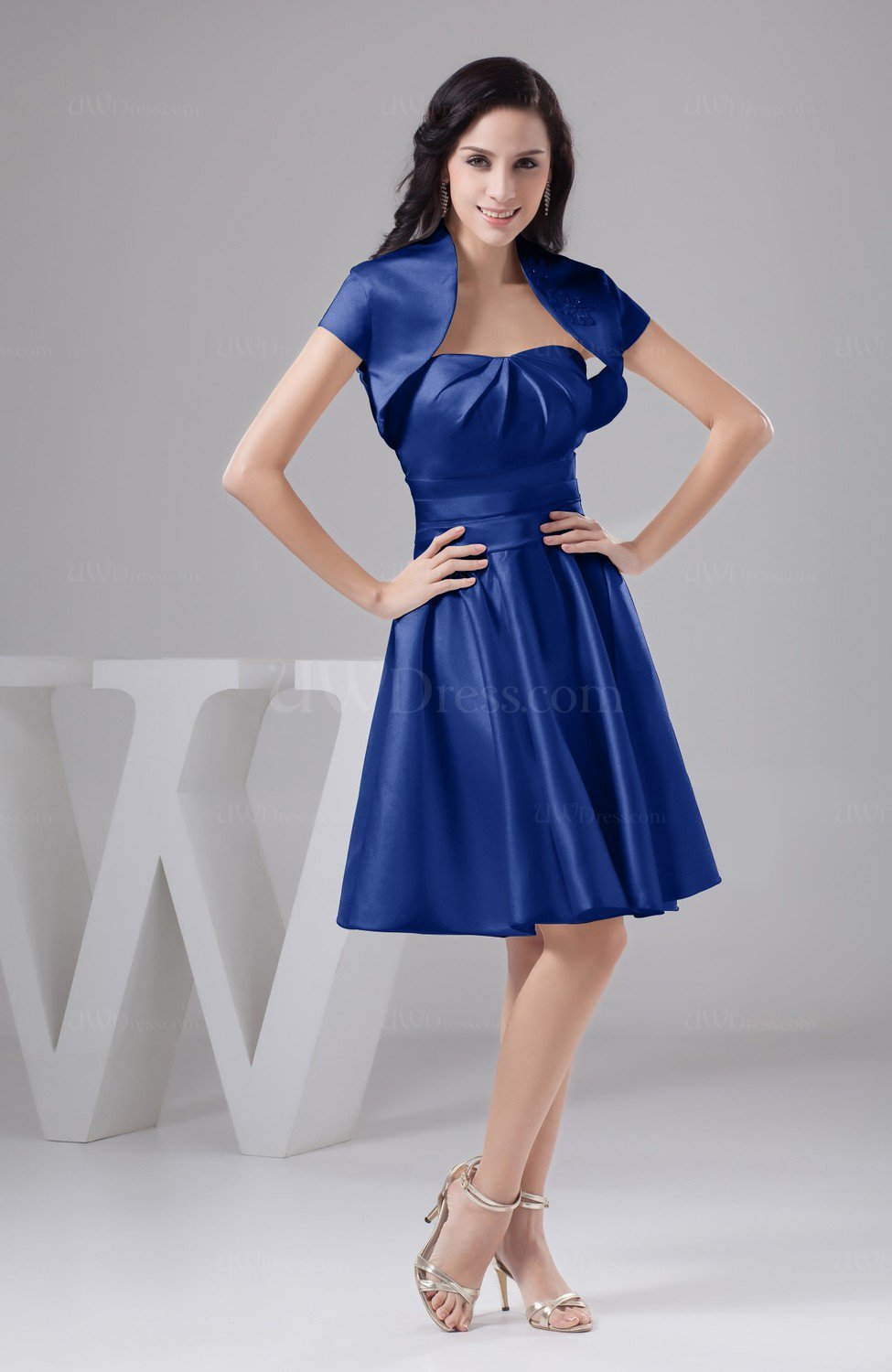 Nautical Blue Inexpensive Bridesmaid Dress Affordable A line Plus Size  Western Autumn