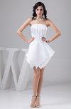 Short Homecoming Dress Inexpensive Open Back Semi Formal Strapless Mini