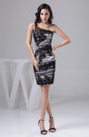 Lace Cocktail Dress Summer Full Figure One Shoulder Affordable Mini Allure