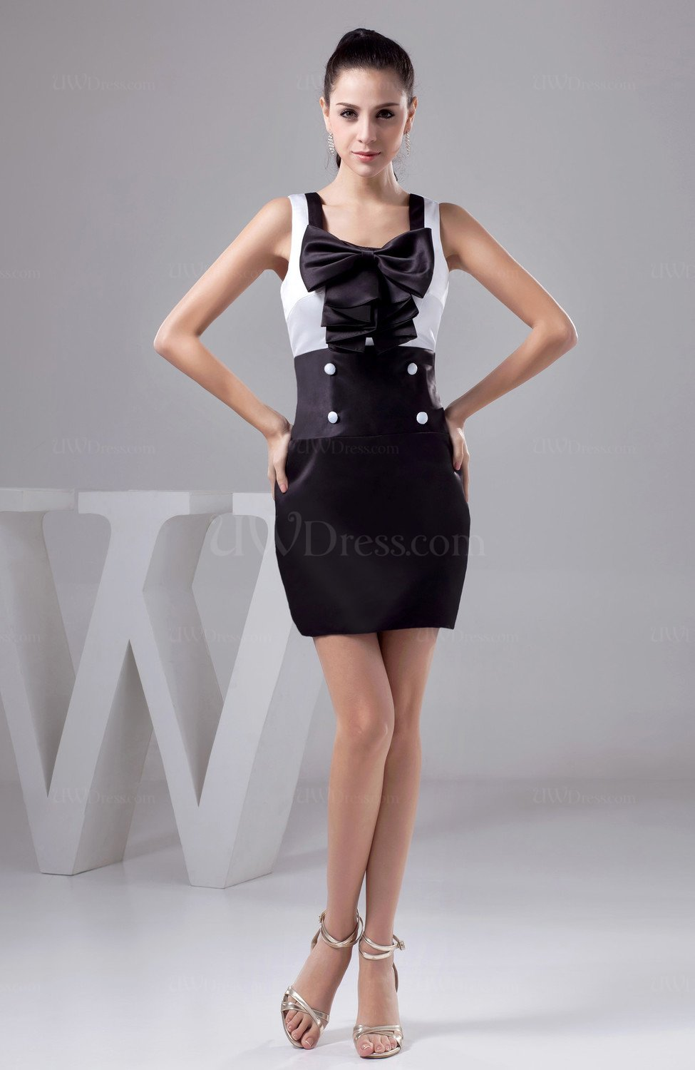 Chocolate Brown Unique Party Dress Affordable Fashion