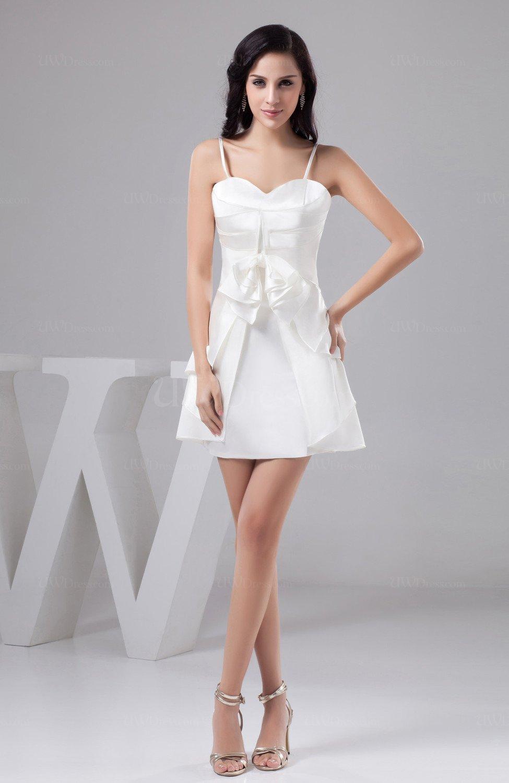 White Inexpensive Bridesmaid Dress Unique Sexy Summer Semi
