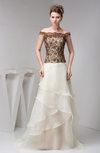 Inexpensive Party Dress Long Luxury Elegant Natural Semi Formal Fall Mature