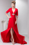 with Sleeves Party Dress Affordable Luxury Hourglass Rhinestone A line
