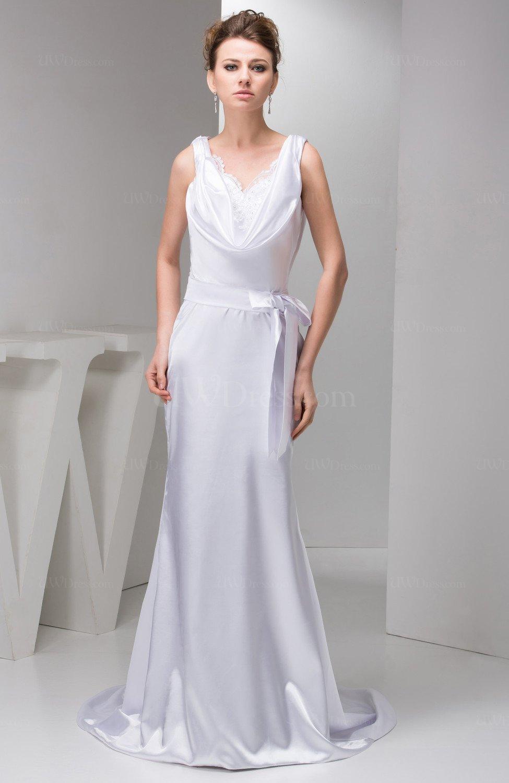White Mermaid Prom Dress Inexpensive Pretty Country