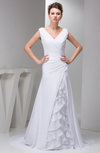 Long Mother of the Bride Dress Affordable Tiered Semi Formal Court Train