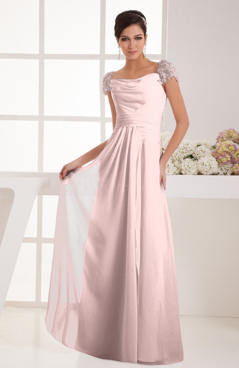 Pastel Pink Floor Length Dress