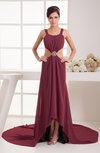 Tea Length Party Dress Unique Plain Pretty Formal Dropped Backless Modern