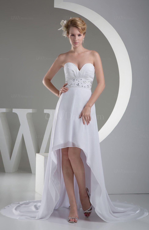 White Short Evening Dress Elegant Full Figure Fall