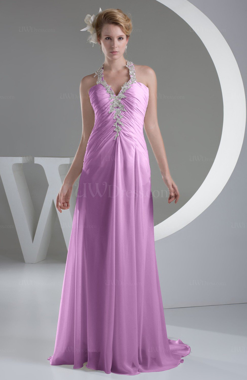 9d55991de2 Orchid Chiffon Bridesmaid Dress Inexpensive Traditional Winter Mature Petite