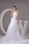 Allure Bridal Gowns Inexpensive Unique Simple Backless Fall Winter Low Back
