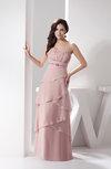 Chiffon Bridesmaid Dress Long Sexy Modern Plus Size Rhinestone Sleeveless