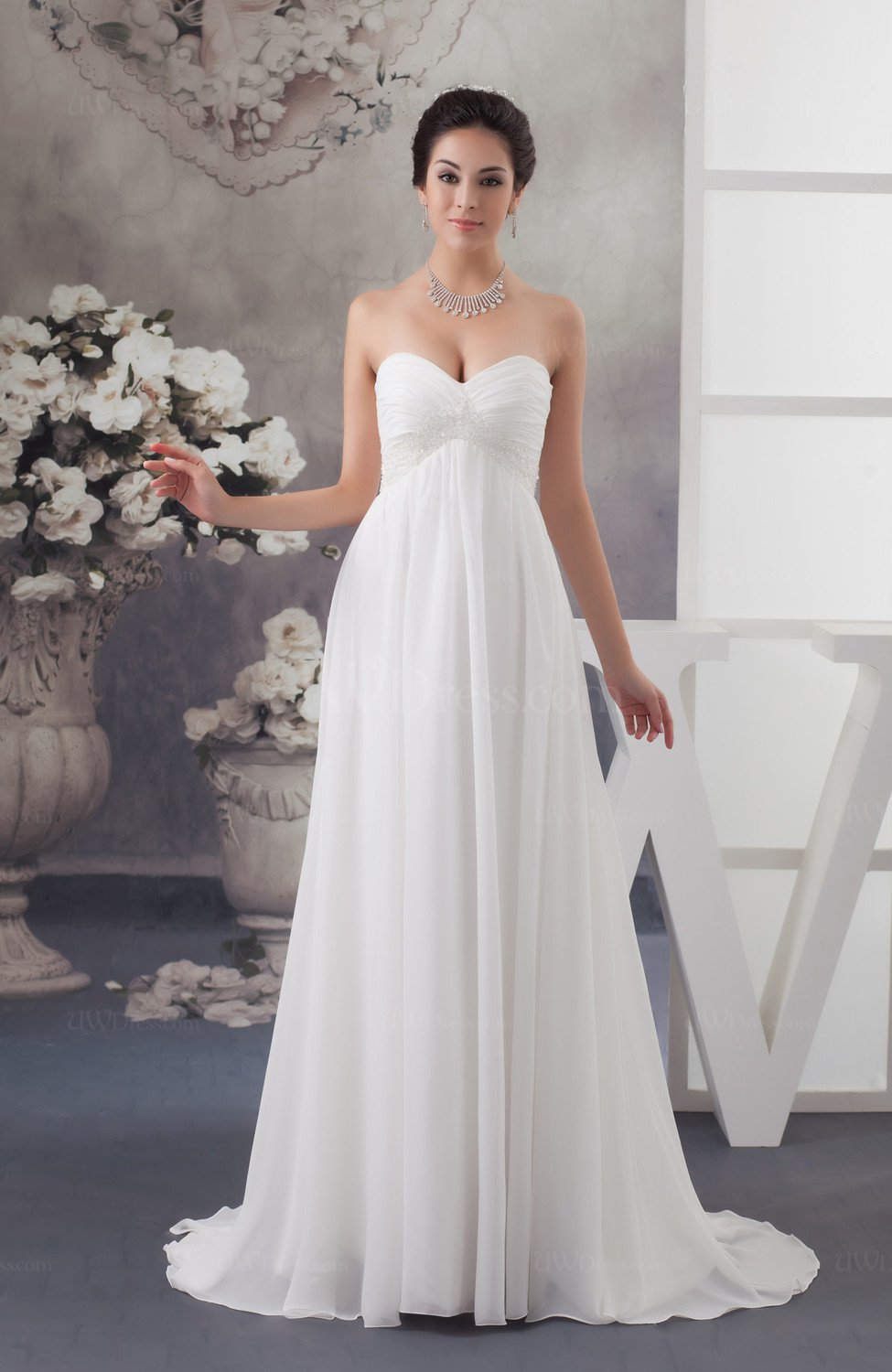 Maternity Bridal Gowns Inexpensive Sweetheart Fall Full ...
