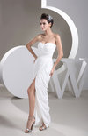 Casual Sweet 16 Dress Long Split Front Allure Sheath Plain Sleeveless