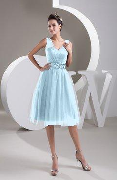 Plus Size Bridesmaid Dresses Gray Sheer - UWDress.com