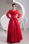 Vintage Prom Dress with Sleeves Mormon Summer Semi Formal Dream A line