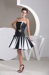 Inexpensive Bridesmaid Dress Beach Taffeta Low Back Strapless Outdoor