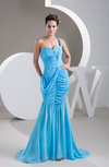 Mermaid Party Dress Casual Fit n Flare Sweep Train Trendy Low Back Spring