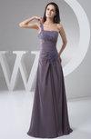 Chiffon Bridesmaid Dress One Shoulder Classy Summer Petite Floor Length