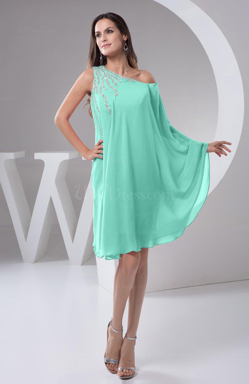Mint Green Chiffon Bridesmaid Dress Maternity Outdoor Plus Size Autumn A  line Modern
