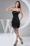 Inexpensive Bridesmaid Dress Country Rhinestone Semi Formal Backless