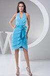 Chiffon Bridesmaid Dress Affordable Plain Apple Sleeveless Tiered Chic