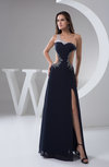 Long Prom Dress Sexy Split Front Illusion Sheer Chic Amazing Classic