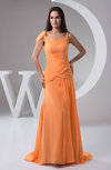 Chiffon Bridesmaid Dress with Sleeves Summer Sweetheart Garden Outdoor