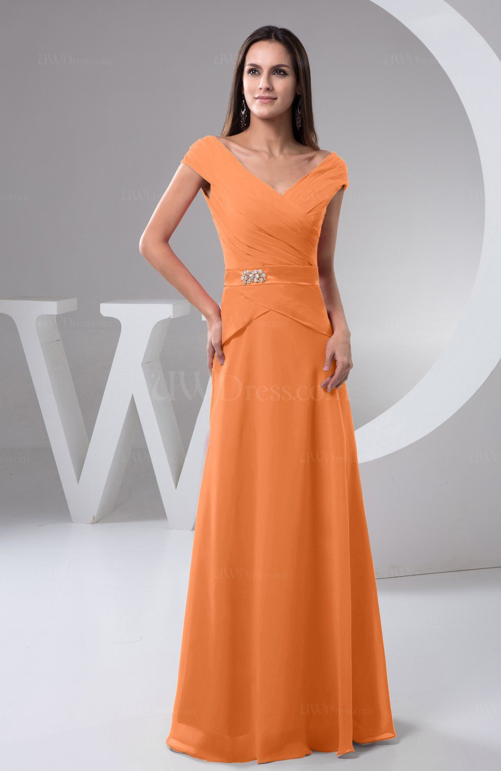 Mango Chiffon Bridesmaid Dress With Sleeves Short Sleeve Outdoor Chic Autumn