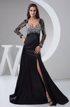with Sleeves Evening Dress Formal Long Sleeve Luxury Sparkly Semi Formal
