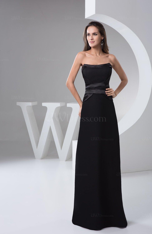 Black Long Bridesmaid Dress Country Summer Floor Length
