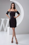 with Sleeves Bridesmaid Dress Short Sexy Petite Pretty Plain Formal