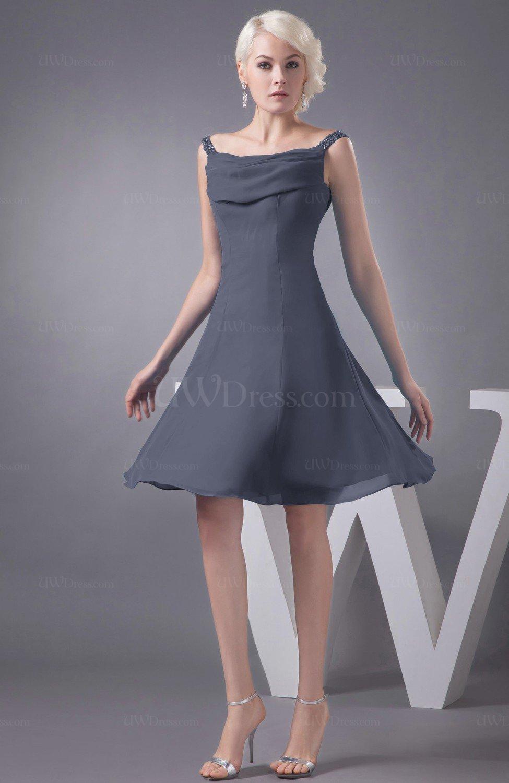 0859cdc0f33 Short Grey Chiffon Bridesmaid Dresses - Gomes Weine AG