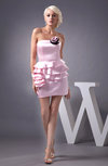 Inexpensive Bridesmaid Dress Beach Summer Tiered Backless Tight Plain