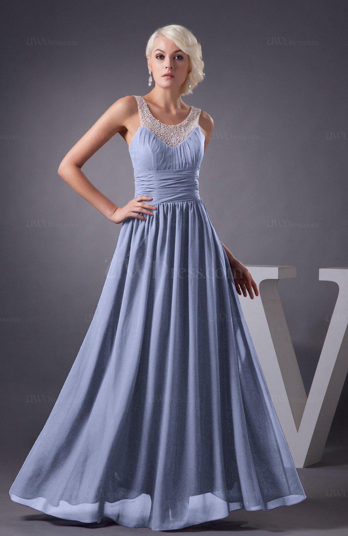 Blue Heron Chiffon Bridesmaid Dress Country Chic Summer Simple Plus ...