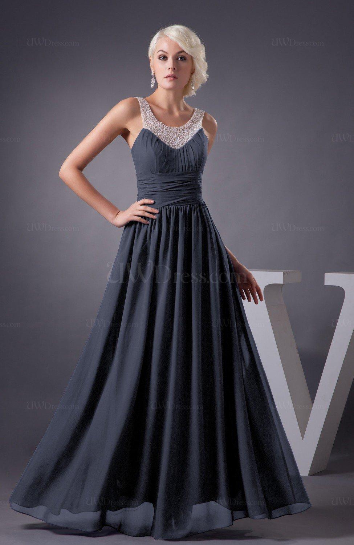 Nightshadow Blue Chiffon Bridesmaid Dress Country Chic Summer Simple Plus  Size Western