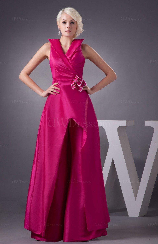 Hot Pink Long Bridesmaid Dress Country Formal Outdoor