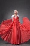 Chiffon Bridesmaid Dress with Sleeves Chic Full Figure Apple Pretty
