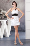 One Shoulder Bridesmaid Dress Country Full Figure Sheath Open Back Winter