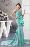 Casual Party Dress Mermaid Summer Spring Sweetheart Plain Church Chiffon