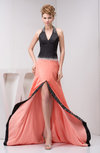 Long Party Dress Affordable Split Front Beading Spring Natural Court Train