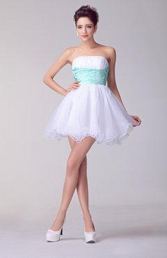 White Summer Cocktail Dress Petite Beaded Formal Open Back Glamorous Trendy f3e20f3f7