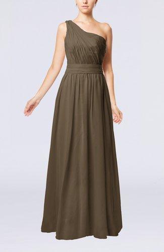 Modest Sleeveless Zipper Chiffon Floor Length Evening Dresses