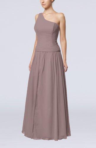 Elegant Sheath Zipper Chiffon Floor Length Wedding Guest Dresses